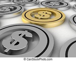 coins, dólar