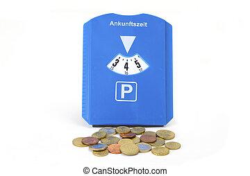 coins, disco, parque, eruo