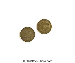 Coins - extremely rare flying Cents - United States first...