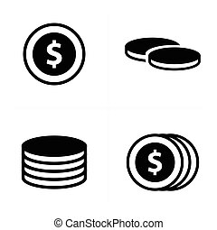 Coins Icons set