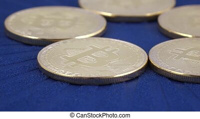 Coins imitating bitcoins - Several coins of virtual coins...