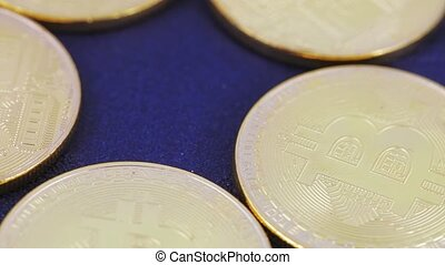 Coins imitating bitcoins - Several coins of virtual coins...
