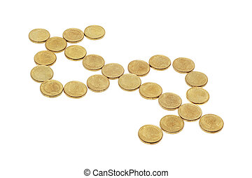 Coins in Dollar Sign