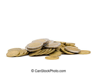 coins isolated on white