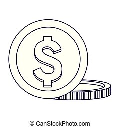coins isolted icon