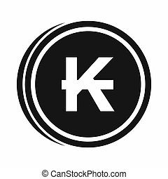 Coins lao kip icon, simple style - Coins lao kip icon in...