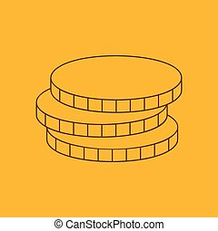 Coins line icon