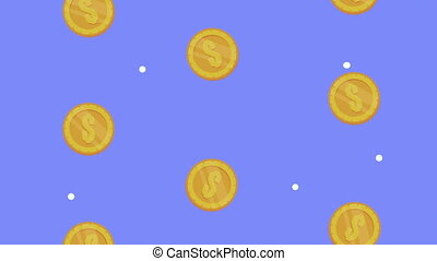 coins money dollars pattern animation,4k video animated