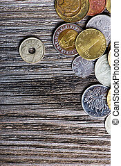 coins of different countries and times