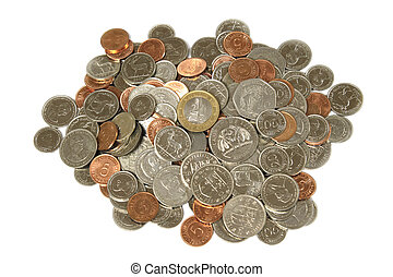 Coins of Mauritius - Group of Mauritius coins rupees and...