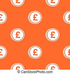 Coins of pound pattern seamless