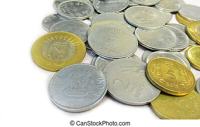 Coins on white background 3
