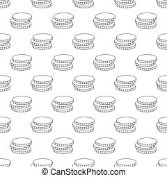 Coins pattern seamless