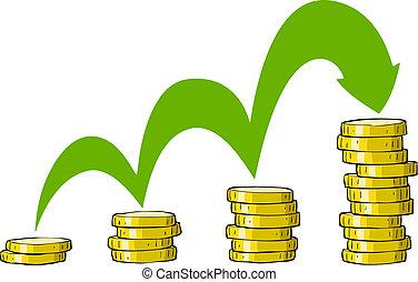coins, pila