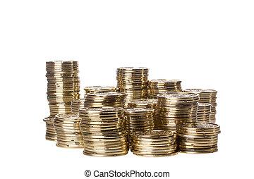 coins, pilas