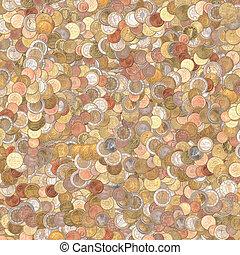 coins, plano de fondo, euro