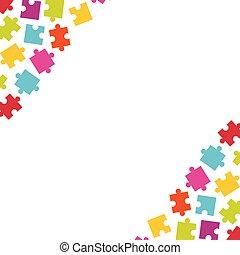 coins, puzzle, puzzle, pieces., coloré