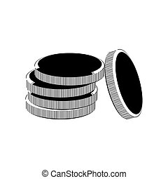Coins simple icon on white background. Vector illustration.