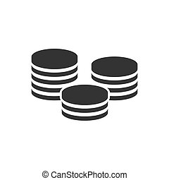 Coins stack icon in flat style. Coin cash vector illustration on white isolated background. Money stacked business concept.