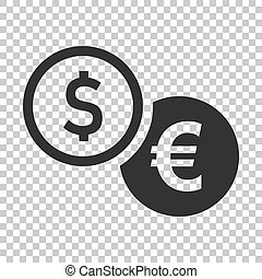 Coins stack icon in flat style. Dollar coin vector illustration on isolated background. Money stacked business concept.