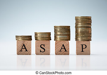 Coins Stacked on Asap Letters