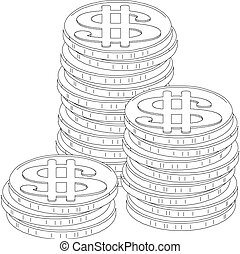 coins vector illustration