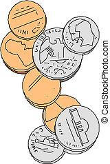 coins vector illustration
