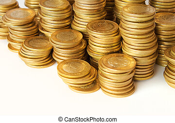 coins white background