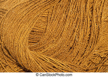 Coir rope - A closeup of twisted coir rope - abstract ...