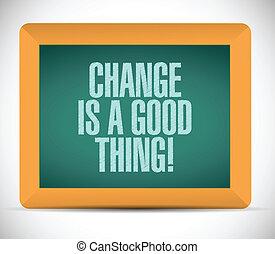 coisa, mensagem, bom, mudança, ilustração