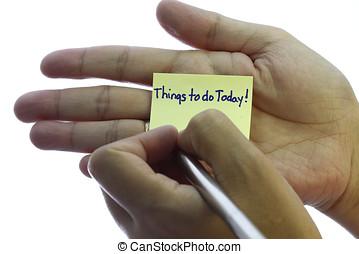 coisas, hoje