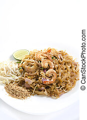 cojín tailandés, con, camarón