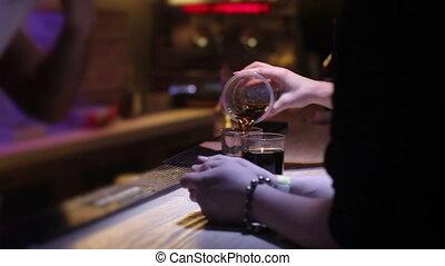 coke, boîte nuit, mélange, whisky