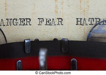 colère, haine, et, peur