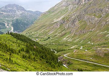 Col de l'Iseran (French Alps), at summer - Col de l'Iseran...