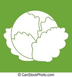 col, verde, icono