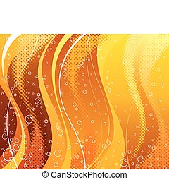 Abstract carbonated drink background of vector layered.
