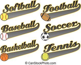 cola, banderas, deportes