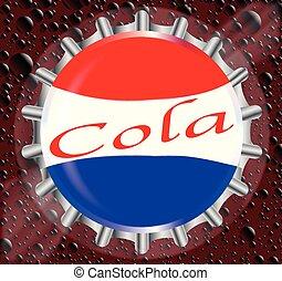 Cola Bottle Cap With Bubbles