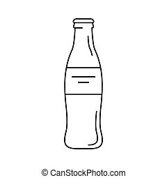 Coke Bottle Outline Coca cola glass Vector...