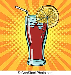 Cola drink with lemon
