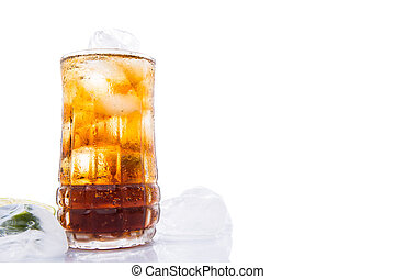 Cola Drinks With Ice Cube