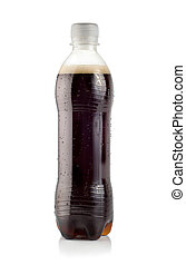 Cola on a white
