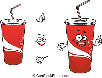 Cola or soda cartoon character - Funny cola or soda cartoon...