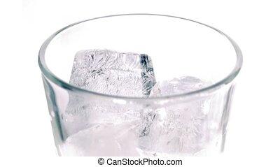 Cola Poured Into Glass Closeup