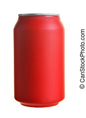 Cola - Red drink can isolated over white background