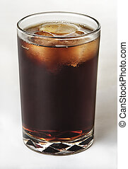Cola soft drink in glass