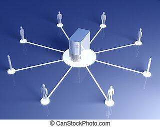 colaboração, rede