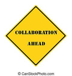 colaboración, adelante, señal