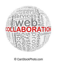 colaboración, pelota, palabra, wordcloud, etiquetas
